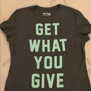 """Adidas The Go-To Tee """"Get What You Give"""""""